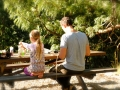 Father and Daughter come together creating Fairy Garden furniture