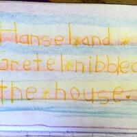 waldorf grade 1 writing