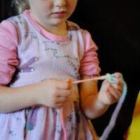 waldorf finger knitting